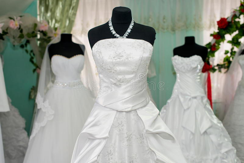Γαμήλια φορέματα στοκ εικόνες