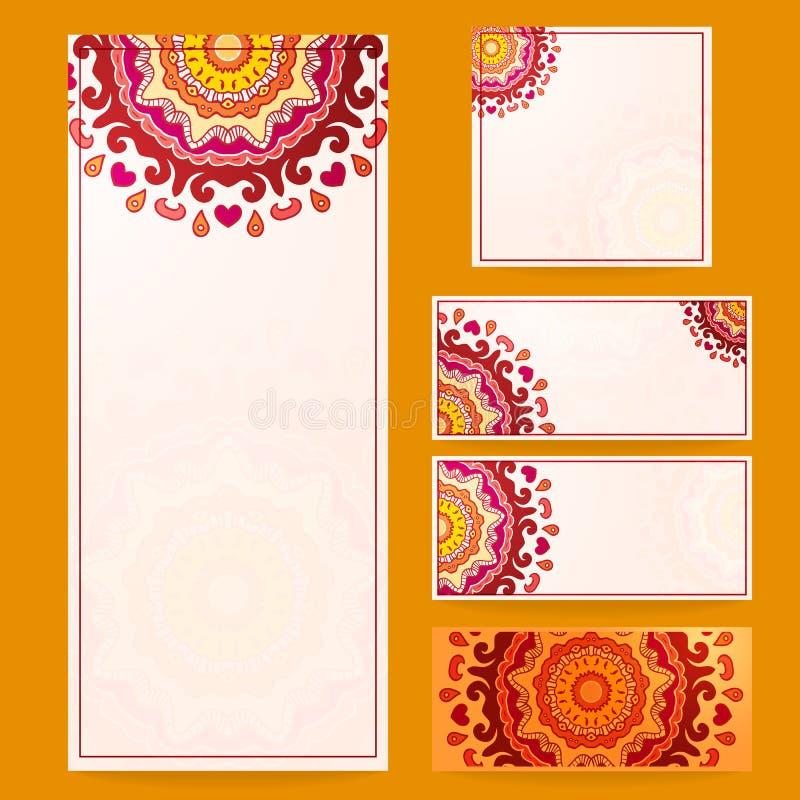 Γαμήλιες κάρτες, προσκλήσεις διανυσματική απεικόνιση