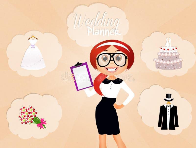 Γαμήλιος αρμόδιος για το σχεδιασμό ελεύθερη απεικόνιση δικαιώματος
