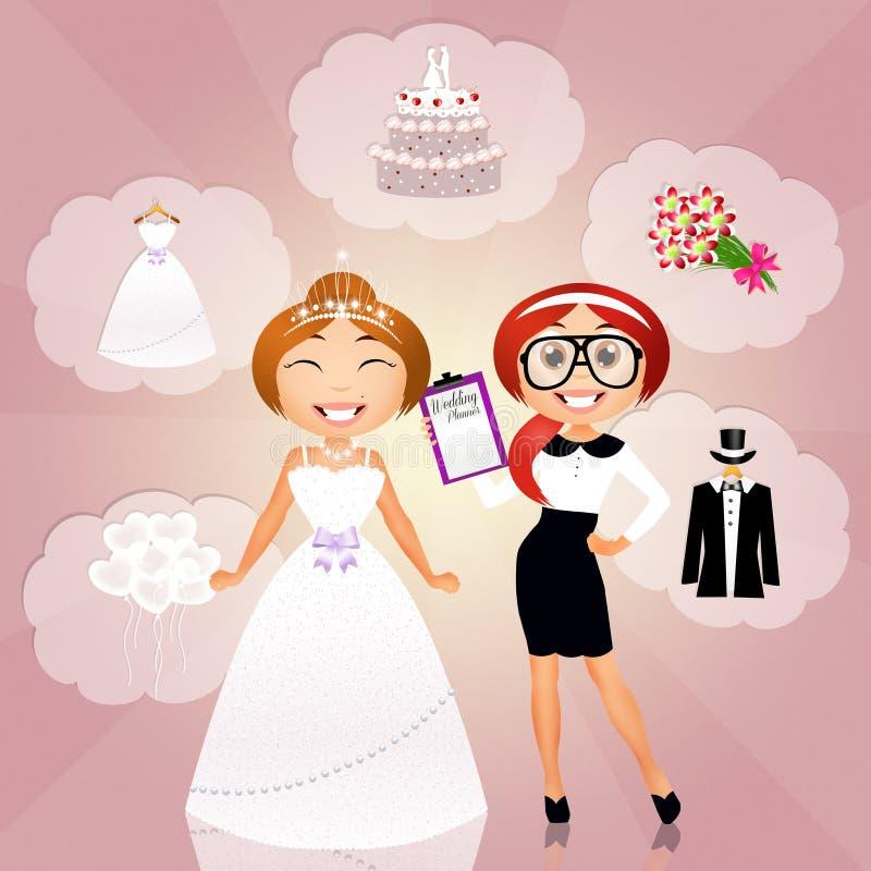 Γαμήλιος αρμόδιος για το σχεδιασμό διανυσματική απεικόνιση