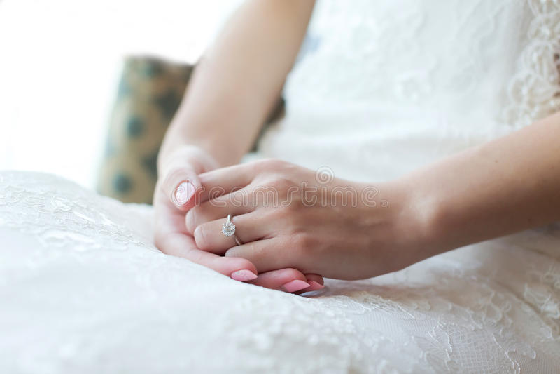 Γαμήλιο δαχτυλίδι διαμαντιών στοκ εικόνα