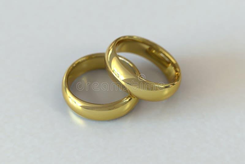 γαμήλιο λευκό δαχτυλιδιών ανασκόπησης ανοιχτό απεικόνιση αποθεμάτων