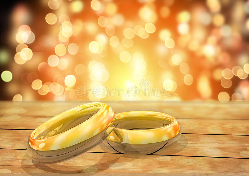 γαμήλιο λευκό δαχτυλιδιών ανασκόπησης ανοιχτό ελεύθερη απεικόνιση δικαιώματος