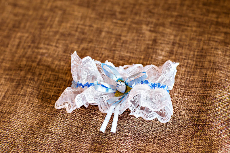 Γαμήλιο νυφικό garter στοκ φωτογραφίες με δικαίωμα ελεύθερης χρήσης