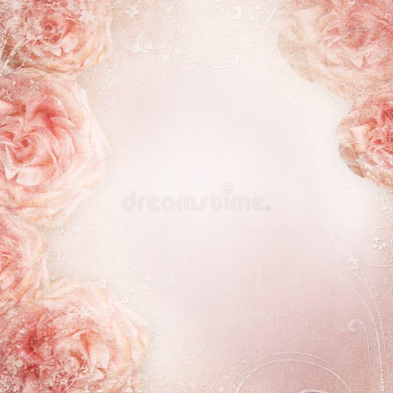 Γαμήλιο υπόβαθρο με τα τριαντάφυλλα στοκ εικόνες με δικαίωμα ελεύθερης χρήσης