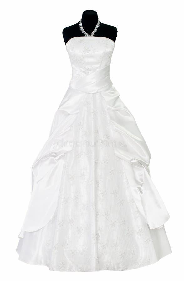 Γαμήλιο φόρεμα στο μανεκέν που απομονώνεται στοκ εικόνα