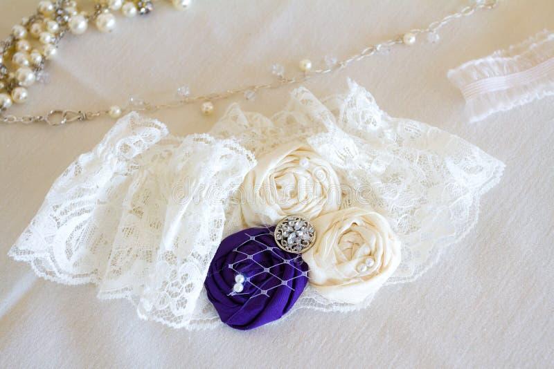 Γαμήλιο Garter νυφών στοκ εικόνα με δικαίωμα ελεύθερης χρήσης