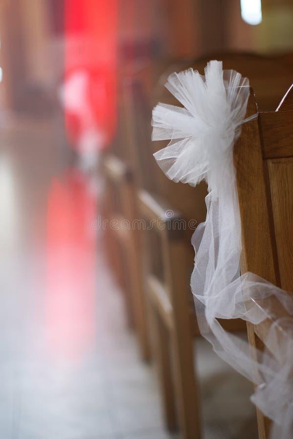 Γαμήλιο pew τόξο στοκ εικόνα με δικαίωμα ελεύθερης χρήσης