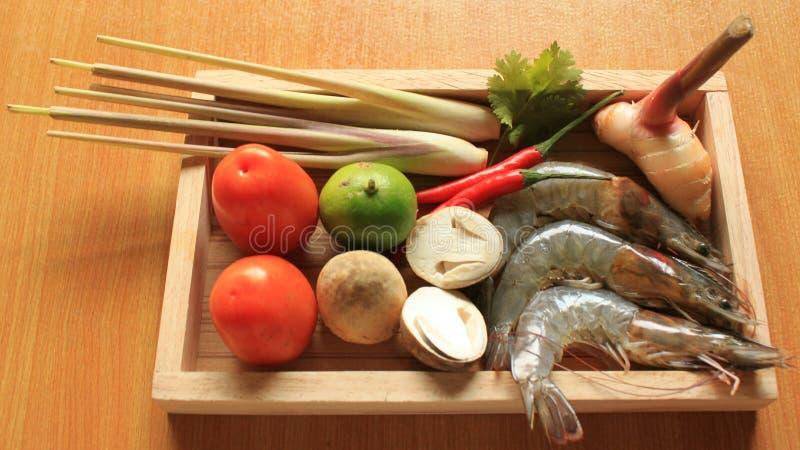 Γαρίδα-θαλασσινά Tom Yum Goong στοκ εικόνες
