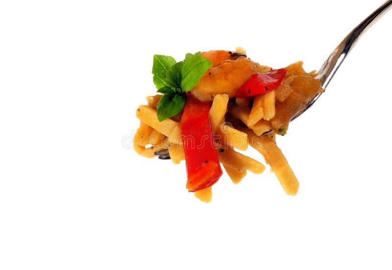 γαρίδες ζυμαρικών βασιλ& στοκ φωτογραφίες με δικαίωμα ελεύθερης χρήσης