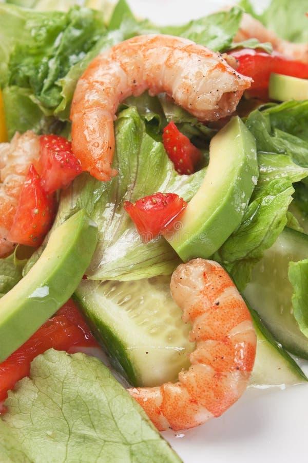 γαρίδες με τα λαχανικά στοκ εικόνες