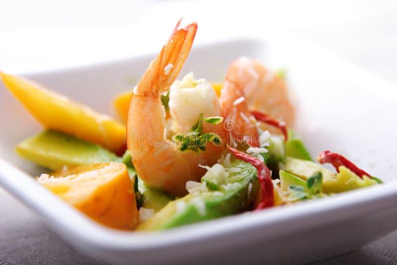 γαρίδες σαλάτας μάγκο αβοκάντο στοκ φωτογραφίες με δικαίωμα ελεύθερης χρήσης