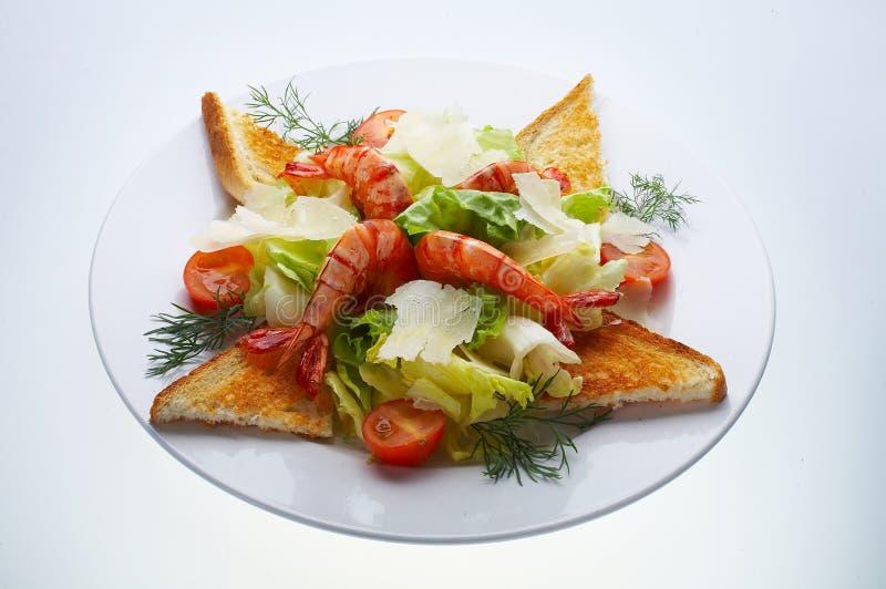 γαρίδες σαλάτας παρμεζάν& στοκ φωτογραφίες με δικαίωμα ελεύθερης χρήσης