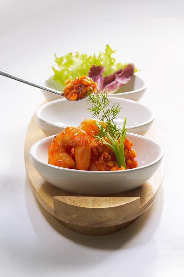 γαρίδες σαλάτας στοκ εικόνα με δικαίωμα ελεύθερης χρήσης