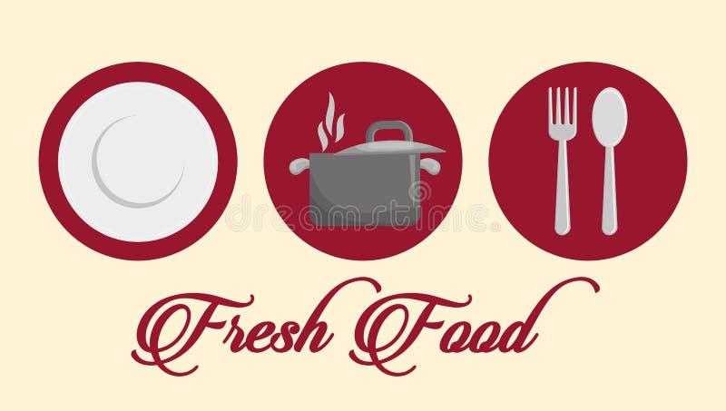 Γαστρονομία και εστιατόριο απεικόνιση αποθεμάτων