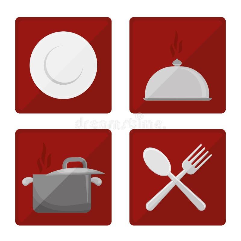 Γαστρονομία και εστιατόριο διανυσματική απεικόνιση
