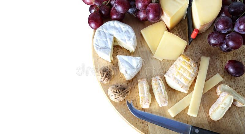 Γαστρονομικός πίνακας τυριών στοκ εικόνα