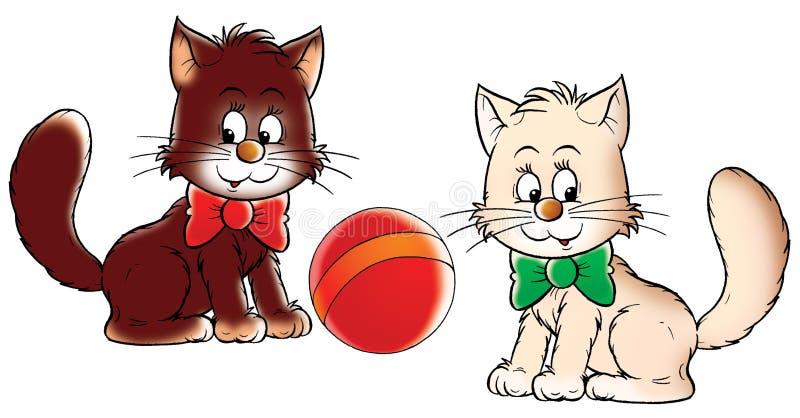 γατάκια σφαιρών απεικόνιση αποθεμάτων