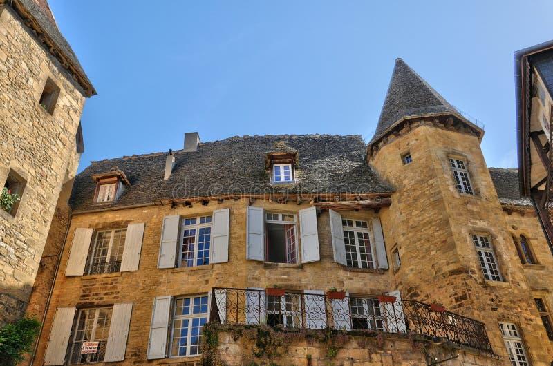 Γαλλία, γραφική πόλη του Λα Caneda Sarlat σε Dordogne στοκ φωτογραφία με δικαίωμα ελεύθερης χρήσης