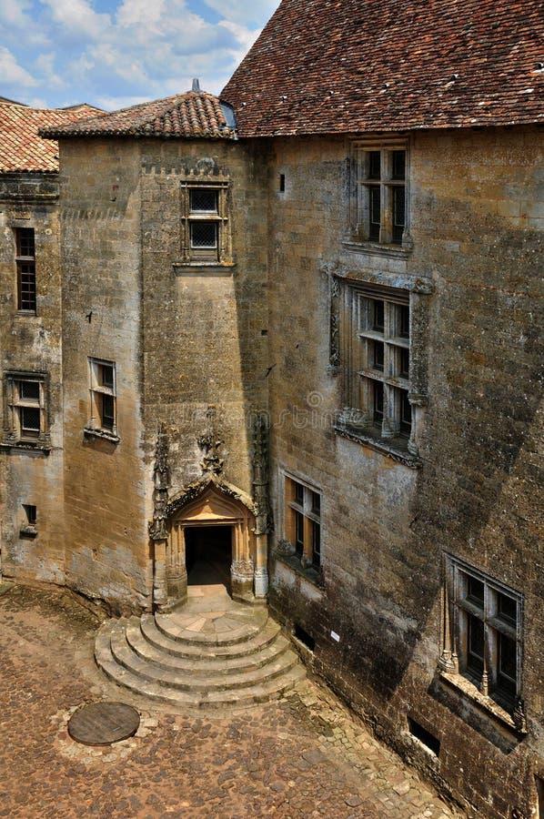 Γαλλία, γραφικό κάστρο Biron σε Dordogne στοκ φωτογραφίες με δικαίωμα ελεύθερης χρήσης