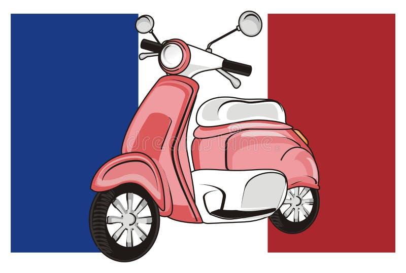 Γαλλία και μοτοποδήλατο απεικόνιση αποθεμάτων