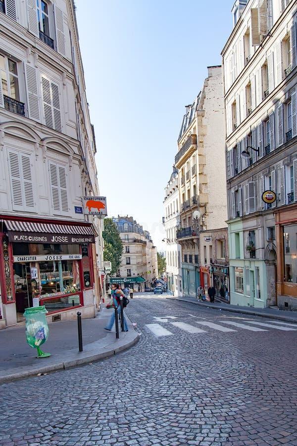 Γαλλία Παρίσι Τον Απρίλιο του 2016 Circa Οδός rue Chappe Chappe σε Montmartre στοκ φωτογραφία