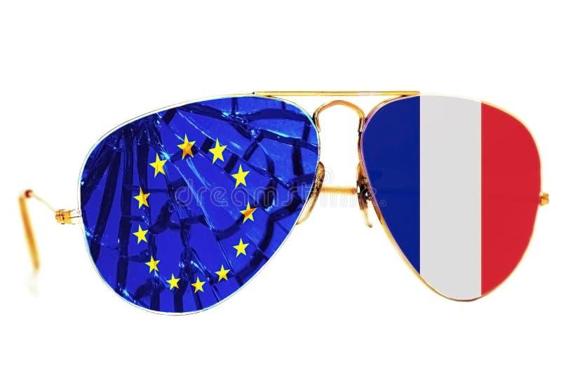 Γαλλία που αφήνει την ΕΕ στοκ εικόνα με δικαίωμα ελεύθερης χρήσης