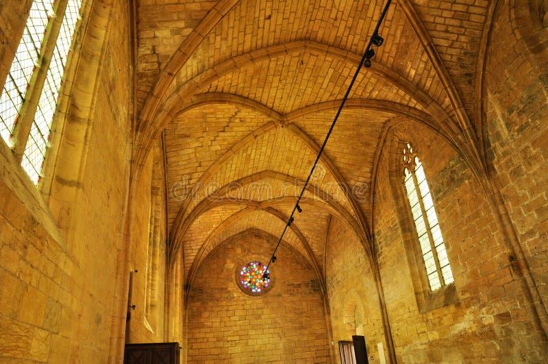 Γαλλία, το γραφικό κάστρο Biron σε Dordogne στοκ εικόνες