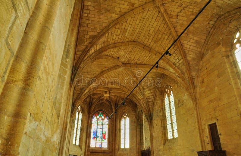 Γαλλία, το γραφικό κάστρο Biron σε Dordogne στοκ φωτογραφίες