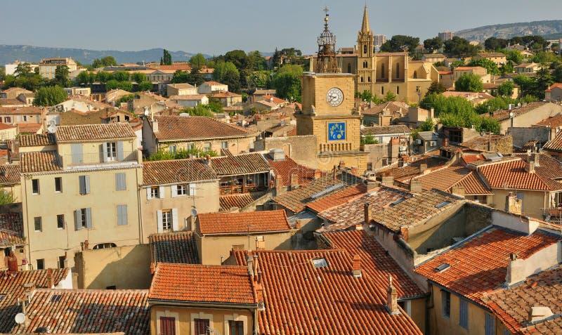 Γαλλία, Bouche du Ροδανός, πόλη του σαλονιού de Προβηγκία στοκ φωτογραφίες με δικαίωμα ελεύθερης χρήσης