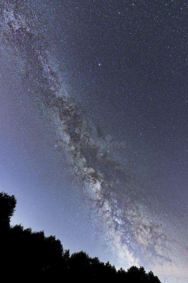 Γαλακτώδης γαλαξίας τρόπων ευρέως από Sagittarius στο αστερισμό του Κύκνου στοκ φωτογραφία με δικαίωμα ελεύθερης χρήσης