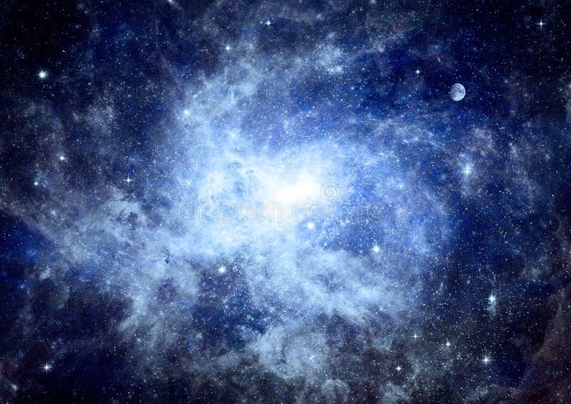 Γαλαξίας σε έναν ελεύθερου χώρου απεικόνιση αποθεμάτων