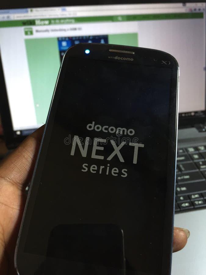 Γαλαξίας S3 Docomo της Samsung στοκ φωτογραφία με δικαίωμα ελεύθερης χρήσης