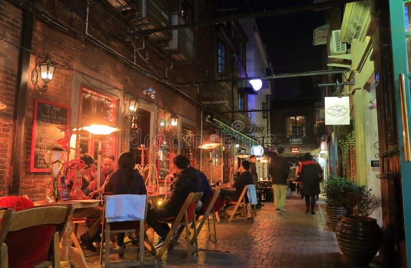 Γαλλική οδός Σαγκάη Κίνα Tianzifang σύνδεσης στοκ εικόνα