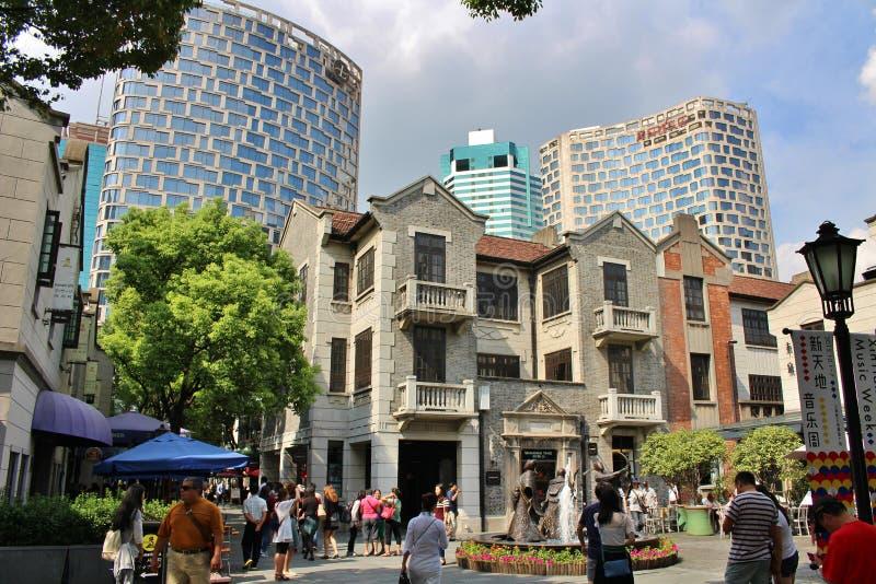 Γαλλική παραχώρηση της Σαγκάη στοκ εικόνα