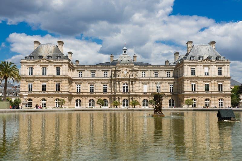 Γαλλική Σύγκλητος και το Jardin du Λουξεμβούργο στοκ εικόνες με δικαίωμα ελεύθερης χρήσης