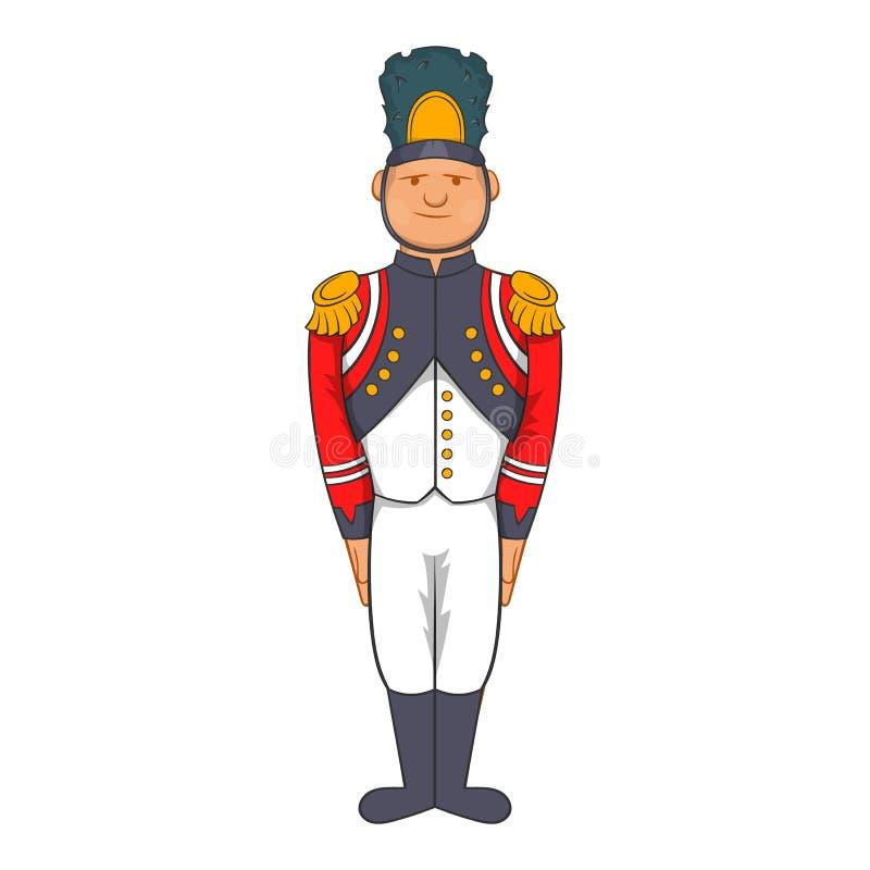 Γαλλικός στρατιώτης στρατού στο ομοιόμορφο εικονίδιο, ύφος κινούμενων σχεδίων ελεύθερη απεικόνιση δικαιώματος