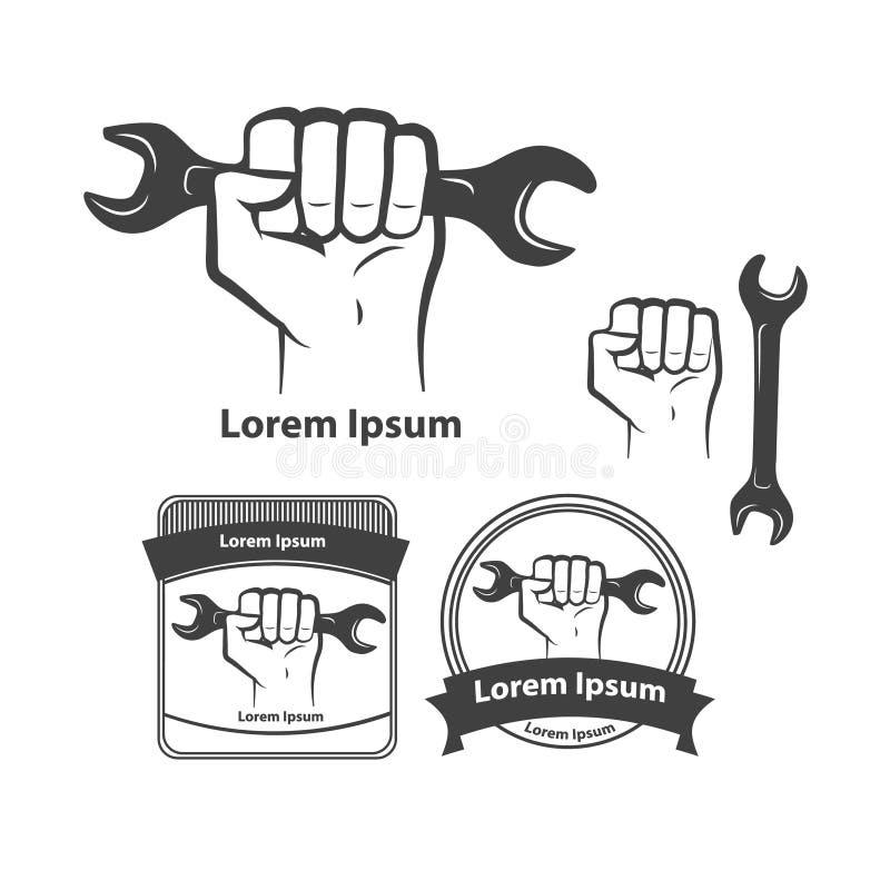 Γαλλικό κλειδί χεριών ελεύθερη απεικόνιση δικαιώματος