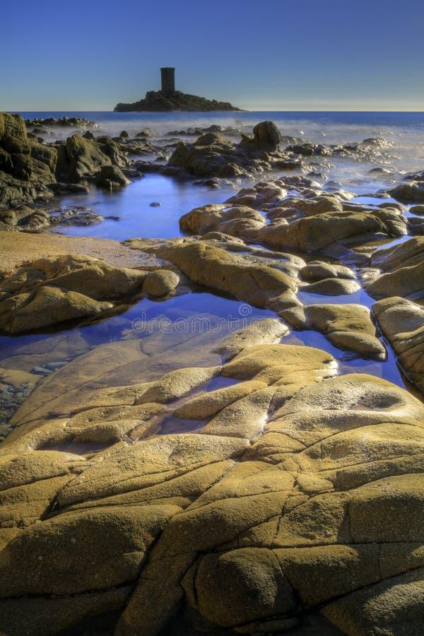 Γαλλικό τοπίο riviera στοκ φωτογραφίες