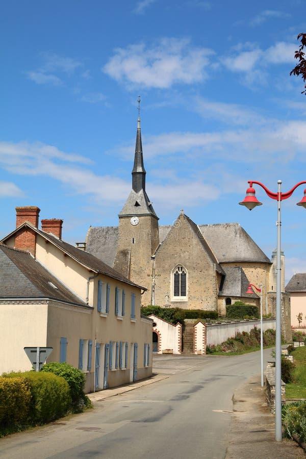 γαλλικό χωριό στοκ εικόνα