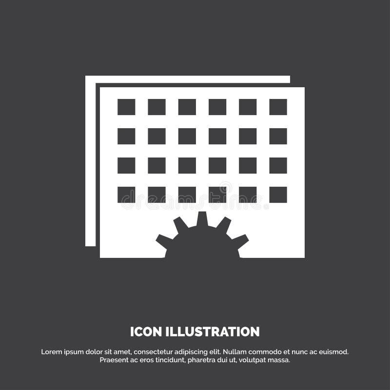 Γεγονός, διαχείριση, επεξεργασία, πρόγραμμα, εικονίδιο συγχρονισμού glyph διανυσματικό σύμβολο για UI και UX, τον ιστοχώρο ή την  διανυσματική απεικόνιση