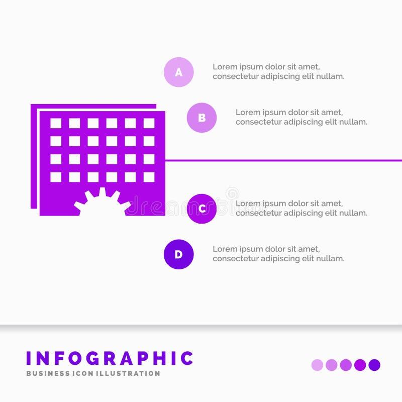 Γεγονός, διαχείριση, επεξεργασία, πρόγραμμα, πρότυπο Infographics συγχρονισμού για τον ιστοχώρο και παρουσίαση r ελεύθερη απεικόνιση δικαιώματος