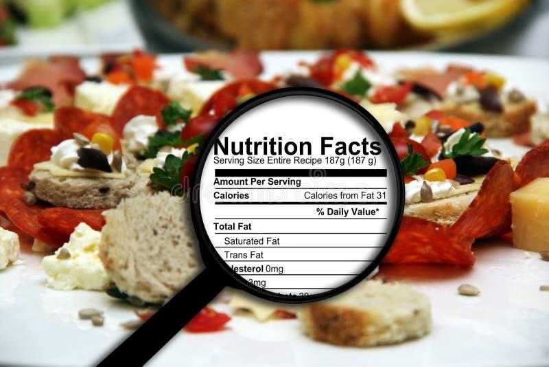 Γεγονότα διατροφής στοκ φωτογραφία