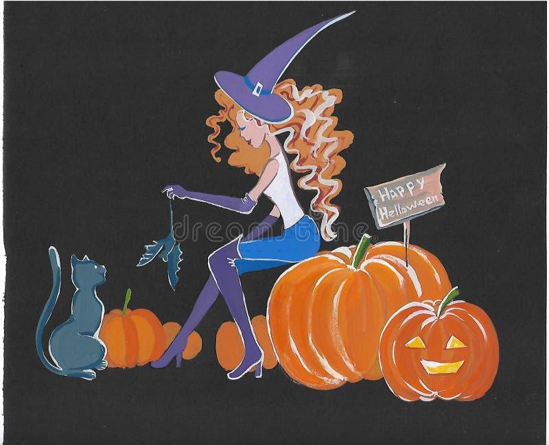 Γειά σου, γειά σου-, αποκριές, Halloweens, Hellene, πιό κοίλο, αποκριές ` s, Hallowing, να κοιλάνει ελεύθερη απεικόνιση δικαιώματος
