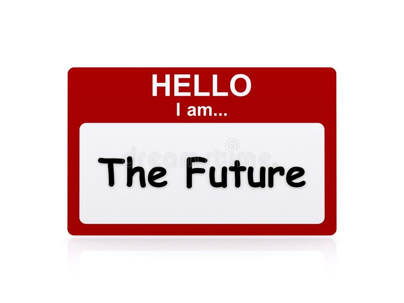 Γειά σου είμαι το μέλλον διανυσματική απεικόνιση