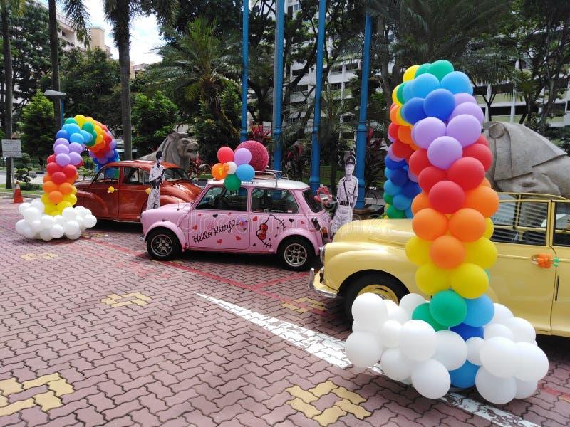 Γειά σου εκλεκτής ποιότητας αυτοκίνητα γατακιών στη Σιγκαπούρη στοκ φωτογραφία με δικαίωμα ελεύθερης χρήσης