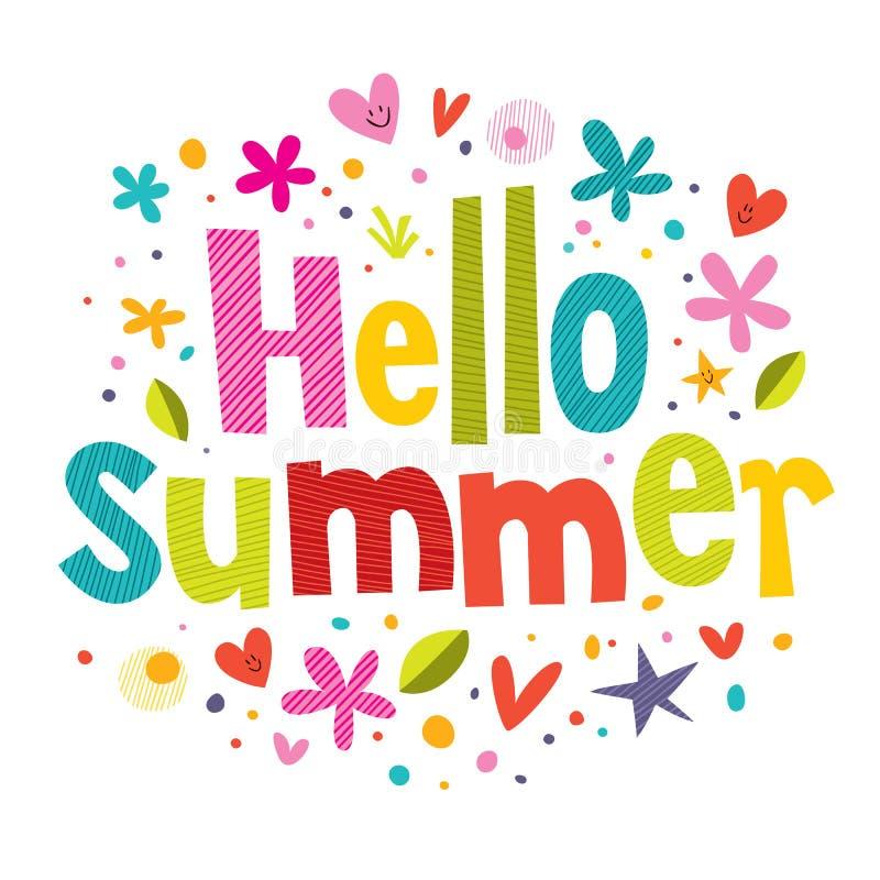 Γειά σου καλοκαίρι διανυσματική απεικόνιση