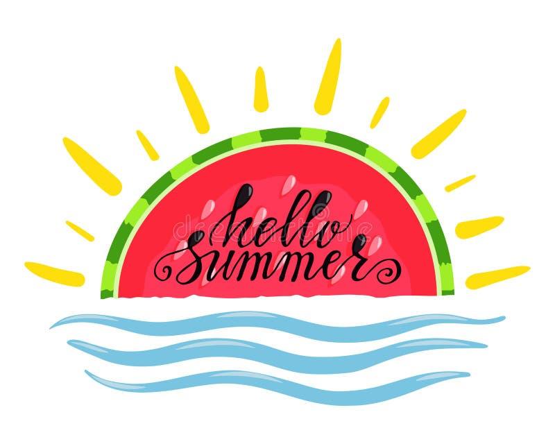 Γειά σου καλοκαίρι απεικόνιση αποθεμάτων