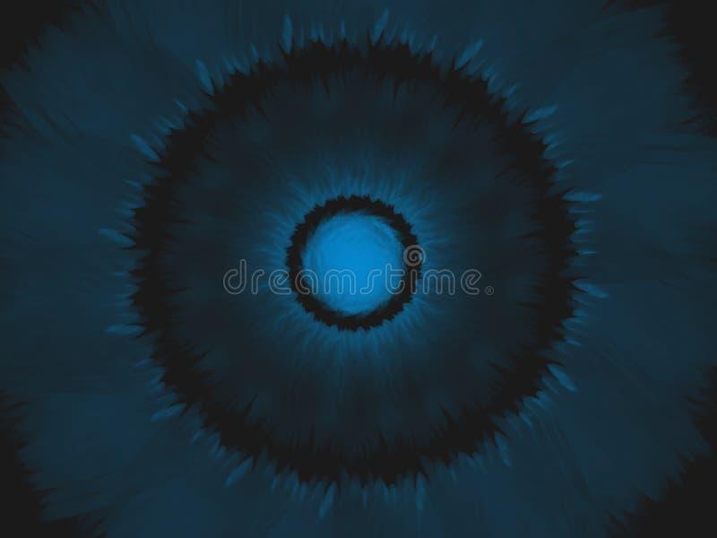 Γειά σου μπλε ηλιοβασιλέματος απεικόνιση αποθεμάτων