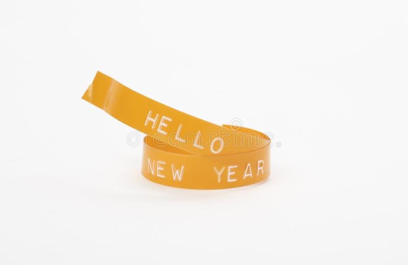 γειά σου νέο έτος στοκ φωτογραφία